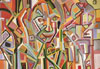 Paintings >> neo-cubist portrait of woman