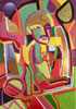 Paintings >> abstract art portrait of woman III