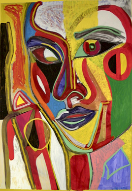 Image result for abstract painting portrait