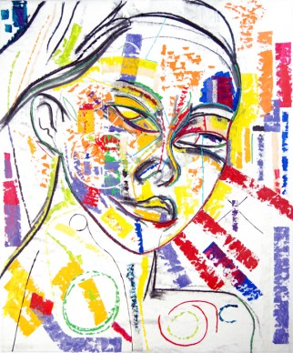 Abstract Portrait No.8, abstract art by Marten Jansen