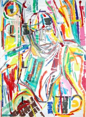 Abstract art No.13, abstract art by Marten Jansen