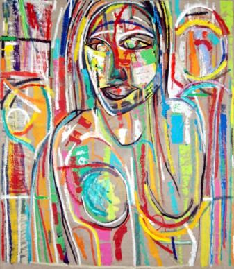 Portrait No.9, misnamed abstract art by Marten Jansen