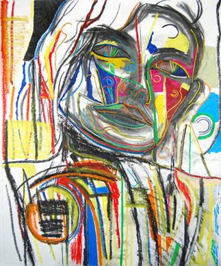Answer Me, abstract art by Marten Jansen