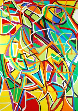 Pure abstract art: Composition III, by Marten Jansen