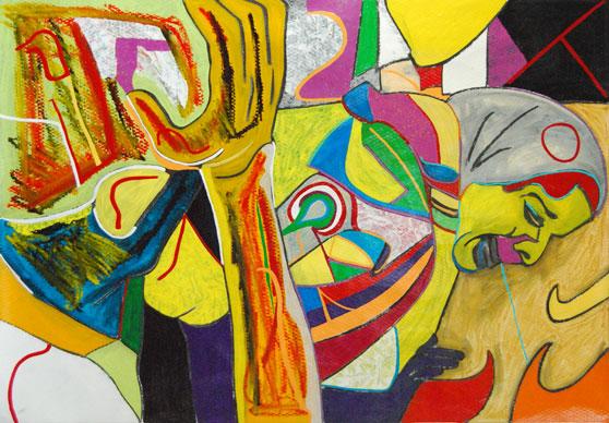 Despair, abstract art by Marten Jansen