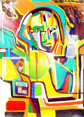 Georgia II, painting by abstract portraitist Marten Jansen