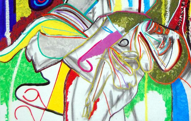 Loss (detail), abstract art by Marten Jansen