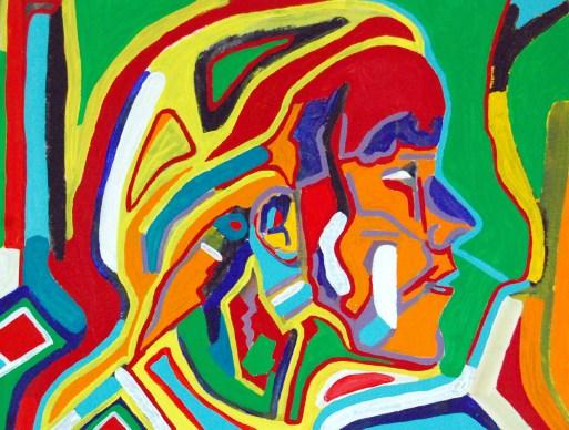 Margreet, abstract art by Marten Jansen