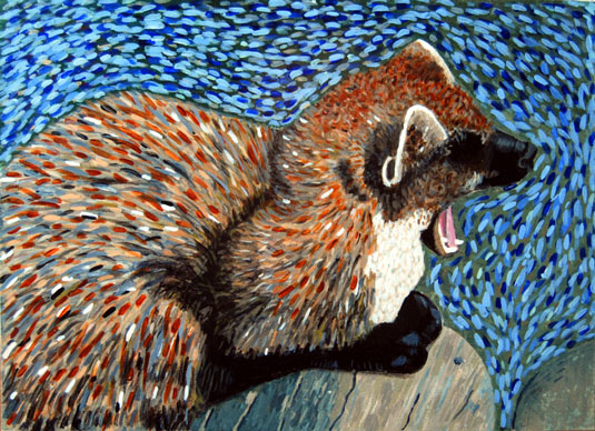 Acrylic painting of Marten, by Marten Jansen