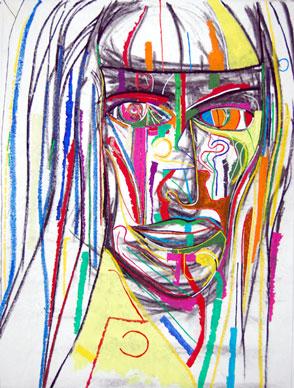 The Messiah, abstract art by Marten Jansen