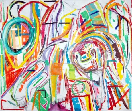 Ike's Prophecy, abstract art by Marten Jansen