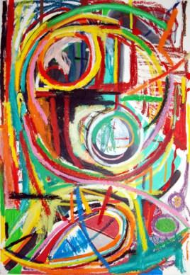 Pure abstract art X, by modern artist Marten Jansen