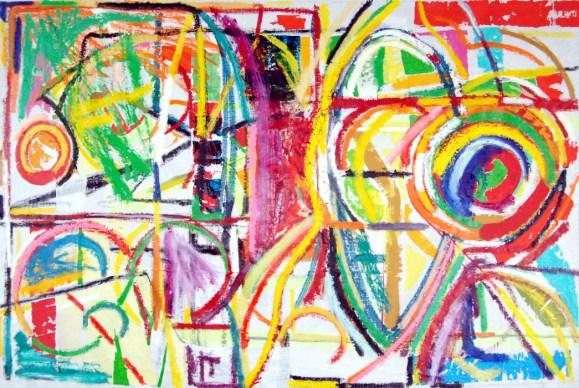 Pure abstract art VIII, by modern artist Marten Jansen