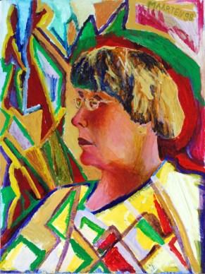 Portrait of the artist's mother, painting by Marten Jansen