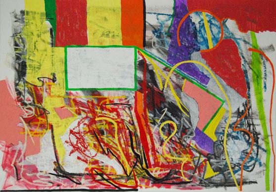 Pure abstract art by modern artist Marten Jansen