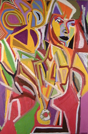 Abstract art portrait of woman I