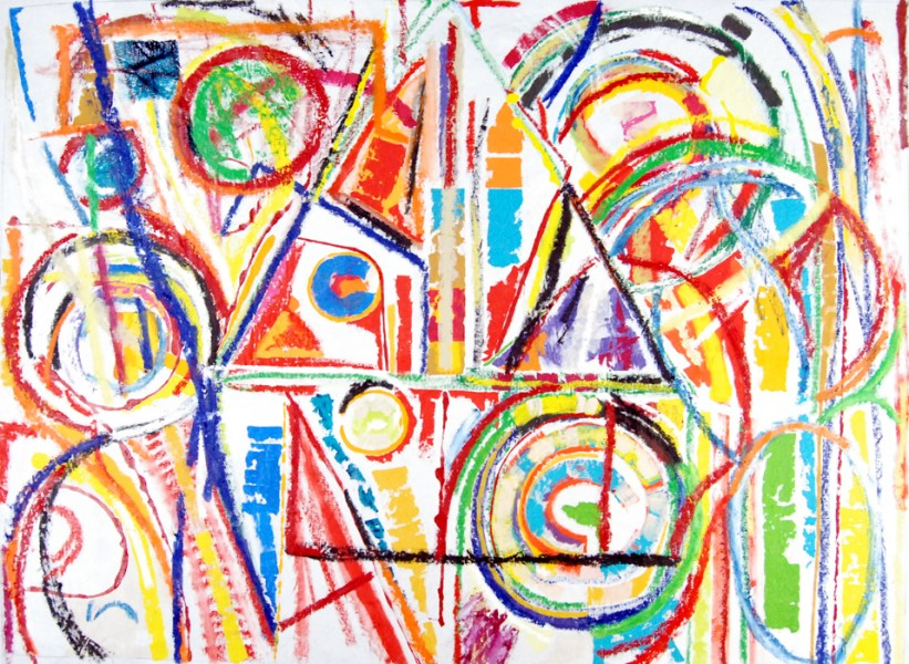 Pure abstract art VII, abstract painting by Marten Jansen